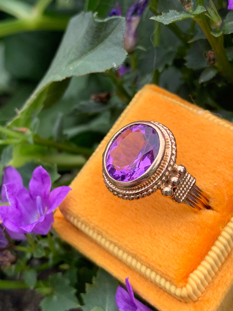 Beautiful Etruscan Amethyst Ring