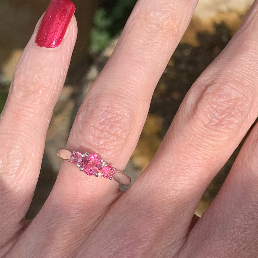 Pink Tourmaline Ring in 18K White Gold