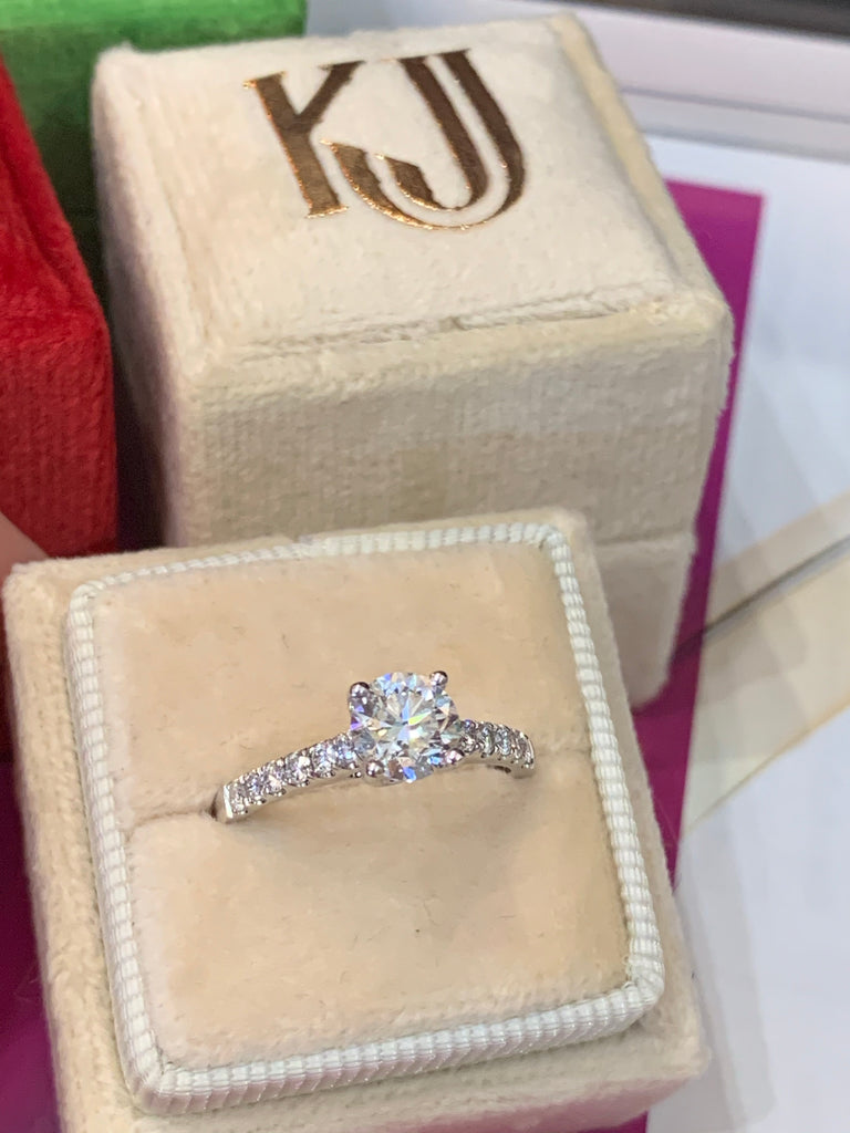Beautiful 1.28ct Diamond Engagement Ring