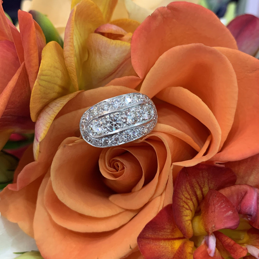 1.50 Carat Diamond Art Deco Ring in Platinum
