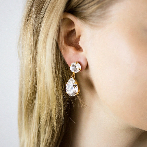 Classic drop earrings - silver night