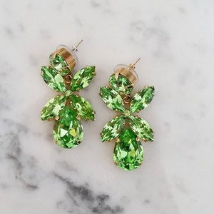 Dione earrings - peridot