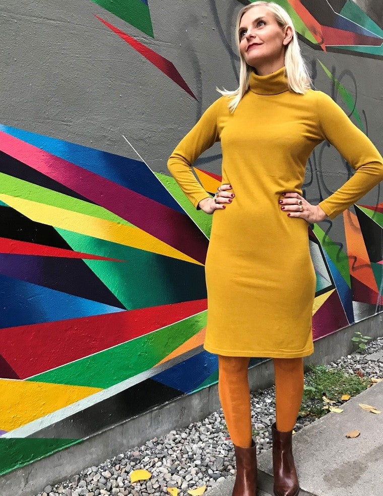 Perfect Turtle Dress - Mustard