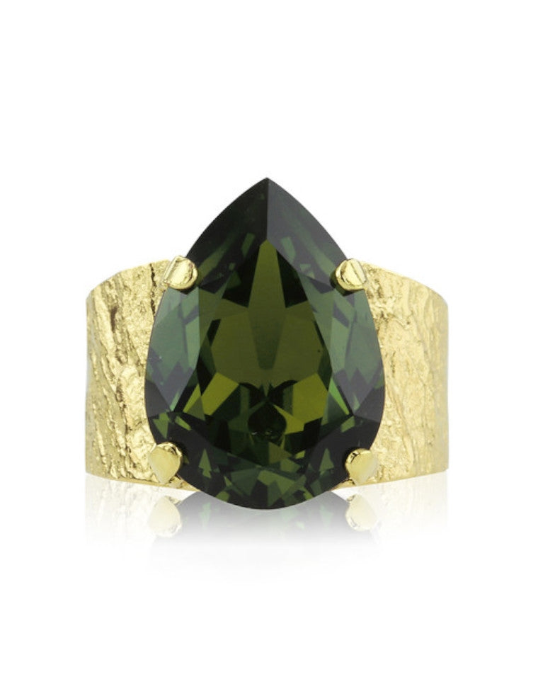 Classic drop ring - olivine