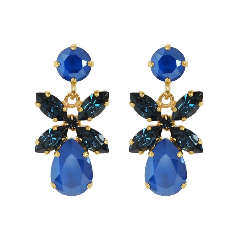 Mini dione earrings - royalblue/montana