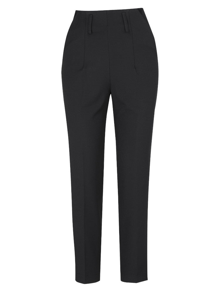 So Very High Waisted Trousers - black