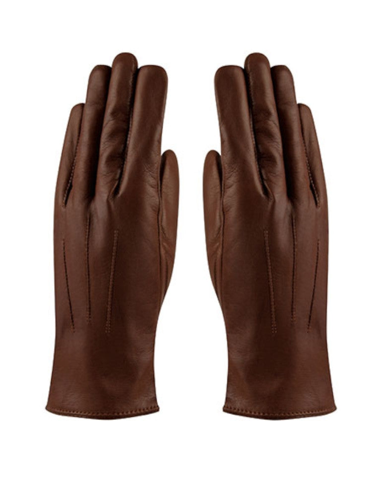Angelina Glove Leather - kastanjebrun