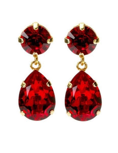 Caroline Svedbom øredobber Classic drop earrings - ruby