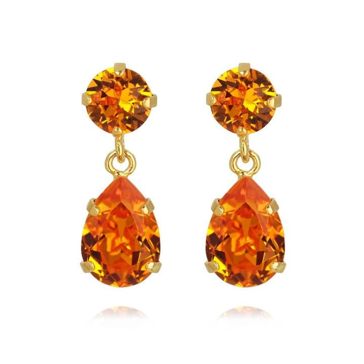 Mini drop earrings - tangerine