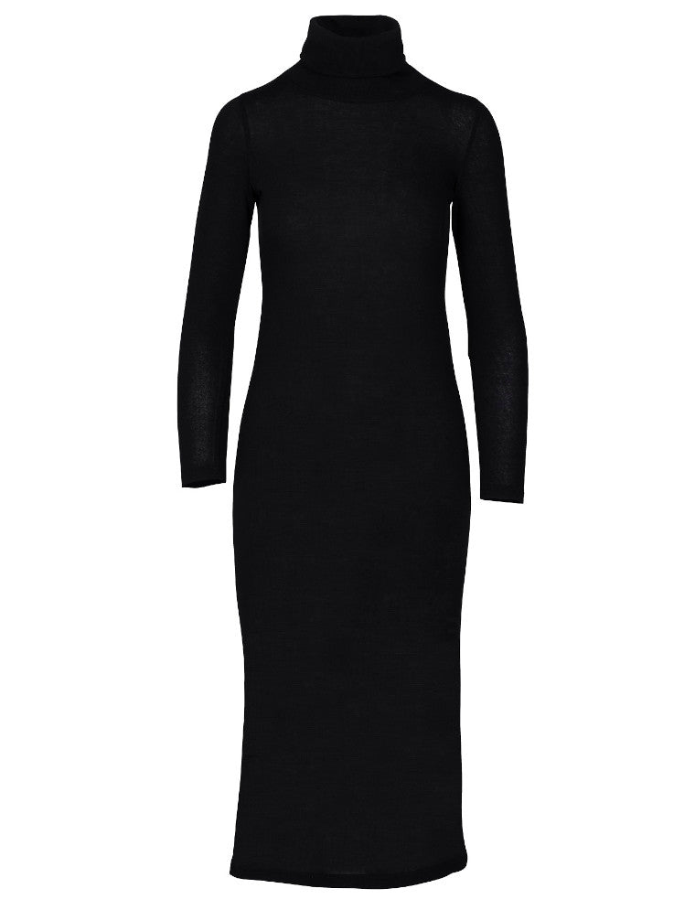 Perfect Turtle Midi Dress - black