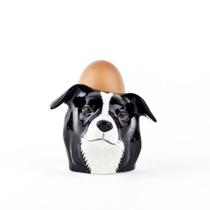 Border Collie face - egg cup