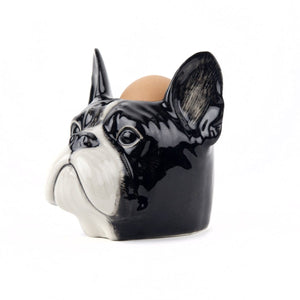 French bulldog face - egg cup