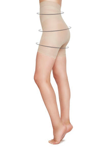 Julia shaping shorts 70 den - nude