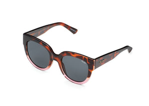 Limelight tort/pnk brown big sunglasses quay australia uva uvb frøken dianas salonger