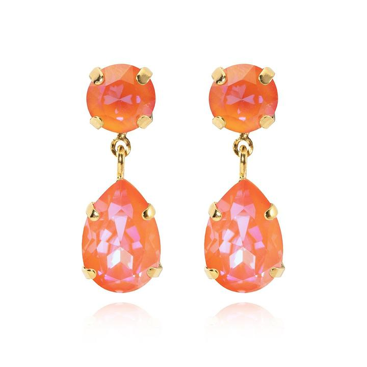 Mini Drop earrings - orange glow delite