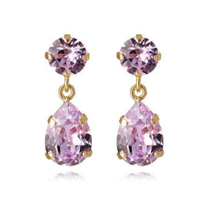 Caroline Svedbom øredobber Mini Drop earrings - violet
