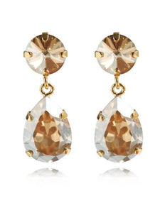 Classic drop earrings - golden shadow