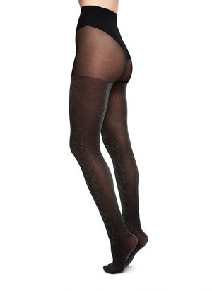 Lisa lurex rib tights - 50 den