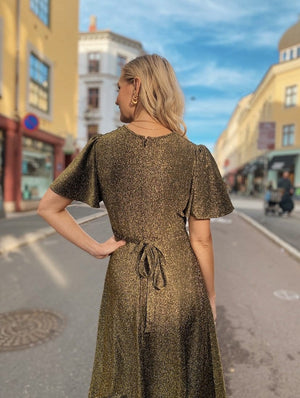 Dianas Vintage kjoler Diana Dress short - gold lurex