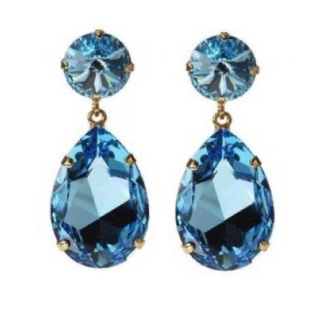 Caroline Svedbom øredobber Perfect drop earrings - aquamarine