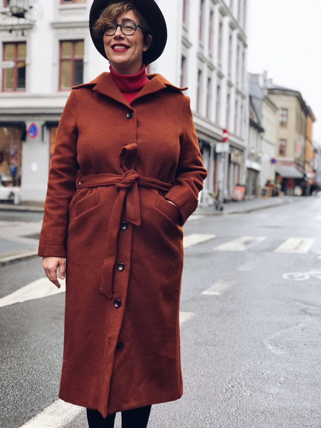 Franz Coat long - brown