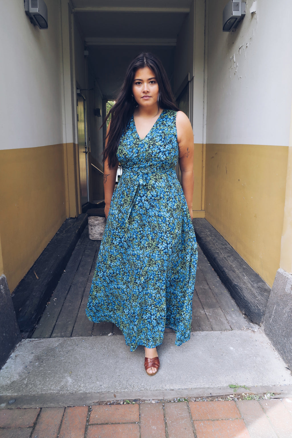 Diana Dress - blue forest