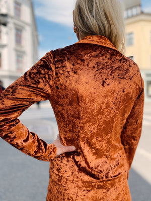 Elise Jacket - chrushed velvet burnt orange