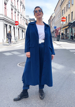 Franz Coat tencel – estate blue