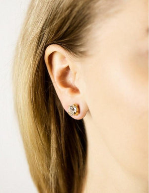 Classic stud earrings - Capri blue