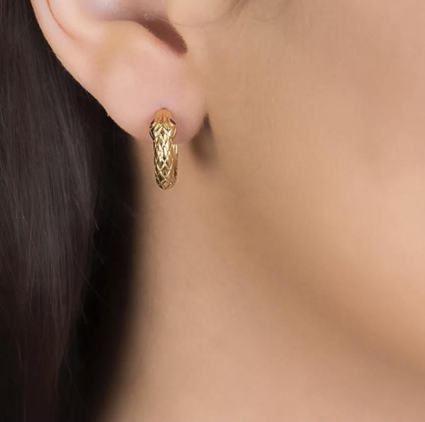 Frøken Dianas salonger øredobber Snake earrings - gold