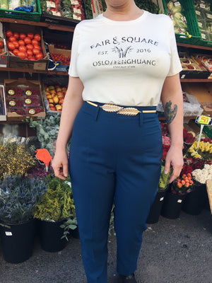 So Very High Waisted Trousers - blue