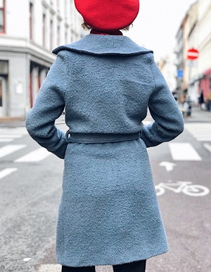 Franz Coat short - blue