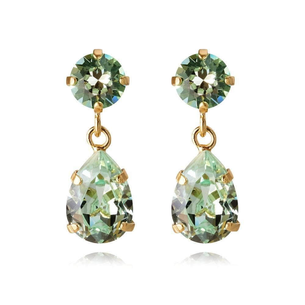 Caroline Svedbom øredobber Mini Drop earrings - chrysolite