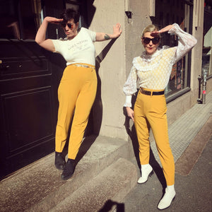 So Very High Waisted Trousers - yellow