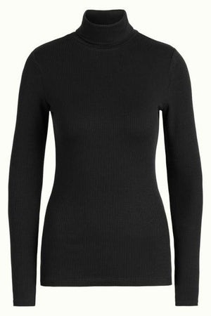 King Louie gensere Rollneck rib tencel - svart