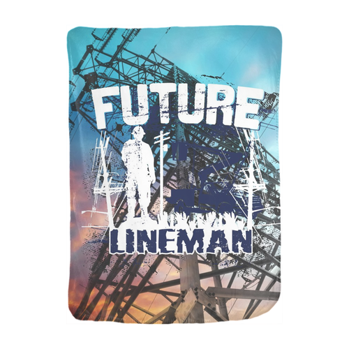 Future Lineman Velveteen Blanket 30x40 - Linemen Rock - Lineman Shirts