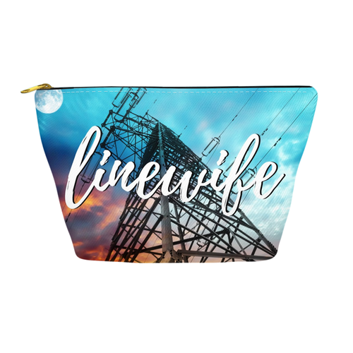 Linewife Make-up Bag Accessory Pouch - Linemen Rock - Lineman Shirts
