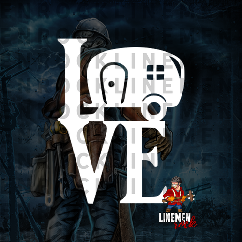 Love Camper Lineman Linelife Decal
