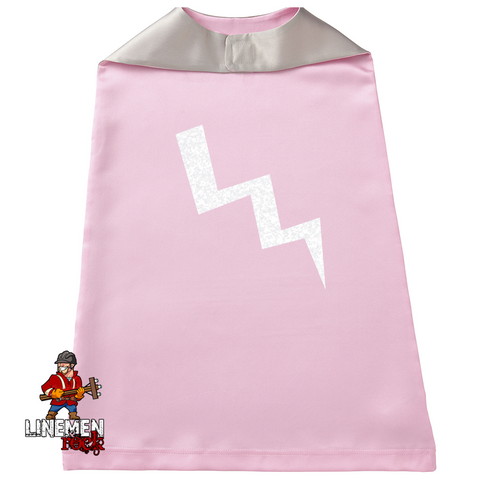 Little Lineman Super Hero Cape (Boys and Girls Versions) - Linemen Rock - Lineman Shirts