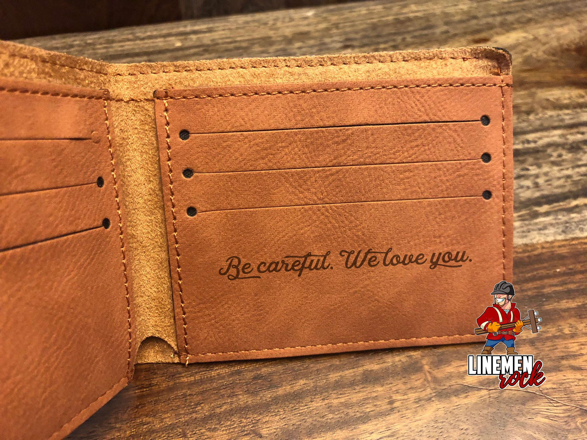 American Flag Lineman Wallet