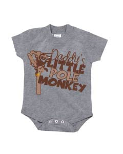Daddy's Little Pole Monkey (Baby up to 6T, various colors)
