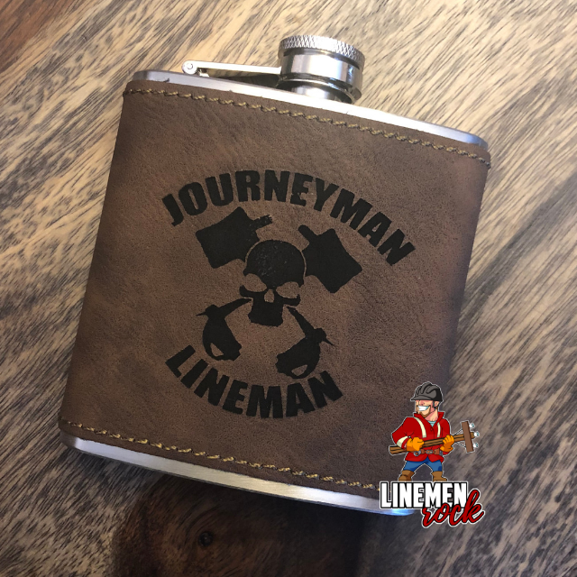 Journeyman Lineman Flask