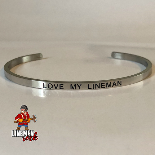 Love My Lineman Bangle Stainless Steel Bracelet