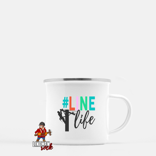 Line Life Camp Mug for Linemen Linewife