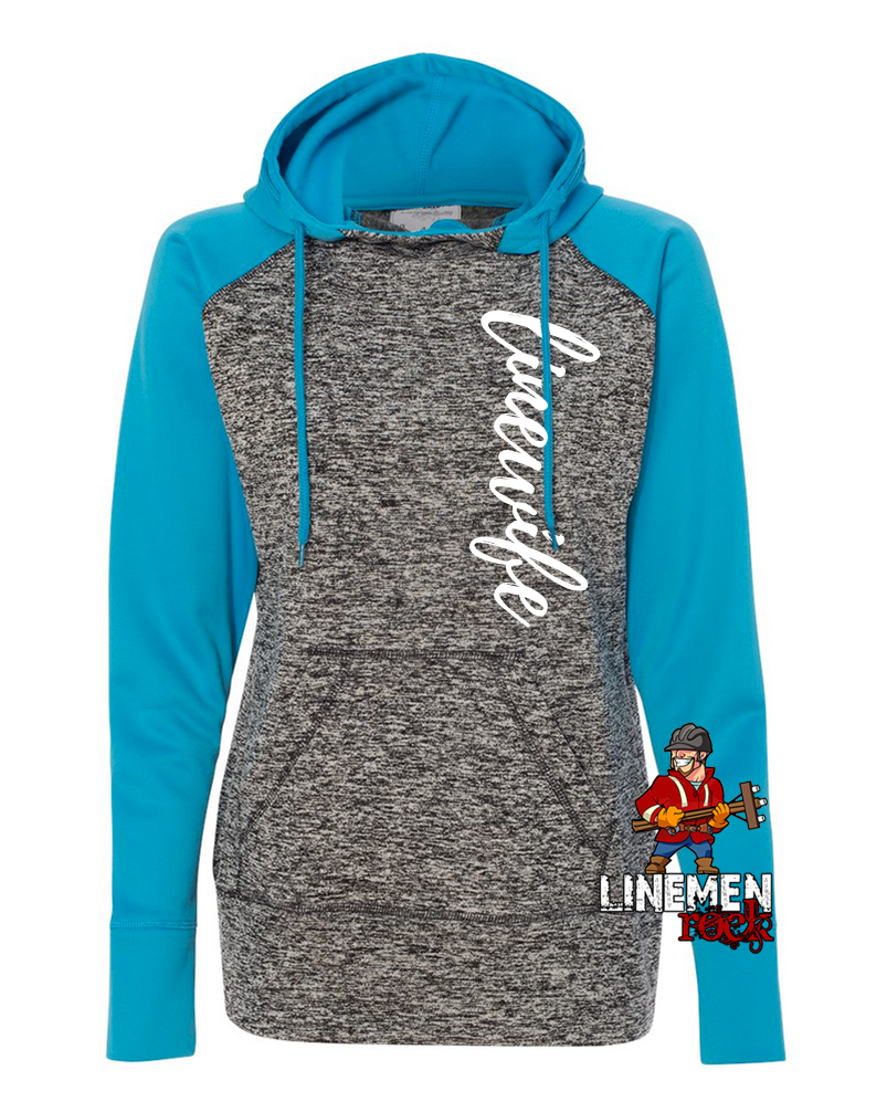 Linewife Speckle Hoodie - Linemen Rock - Lineman Shirts