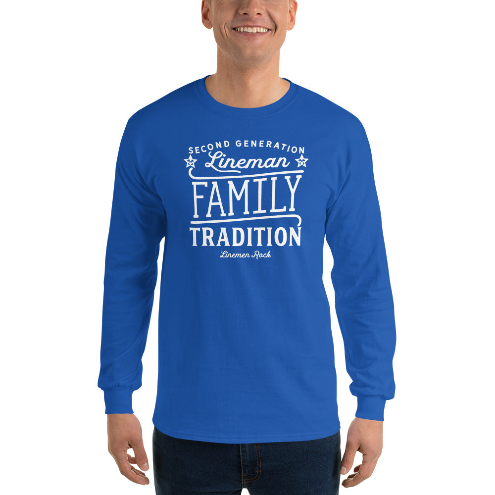 Third Generation Lineman Long Sleeve T-Shirt - Linemen Rock - Lineman Shirts