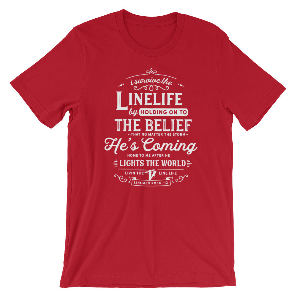 Survive the Linelife Linewife Lineman's Wife Tshirt - Linemen Rock - Lineman Shirts