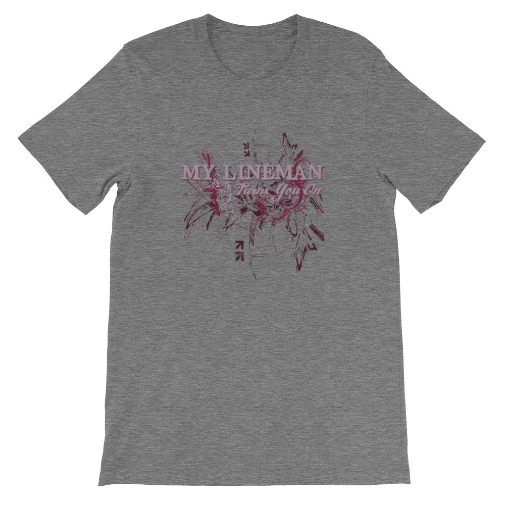 My Lineman Turns You On Short-Sleeve Unisex T-Shirt - Linemen Rock - Lineman Shirts