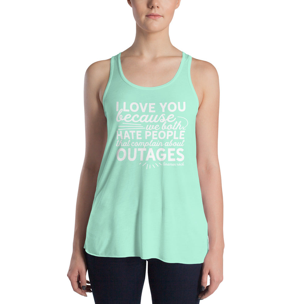I love you because we hate people tank top