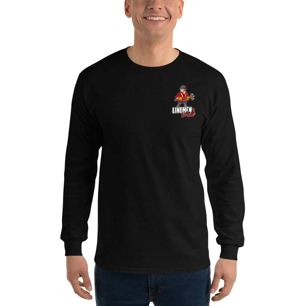 Stand In The Storm Long Sleeve T-Shirt - Linemen Rock - Lineman Shirts